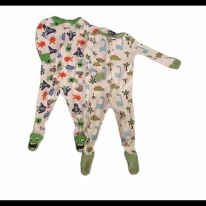 Bundle of 2 Footed Cotton Sleepers 12-18mos